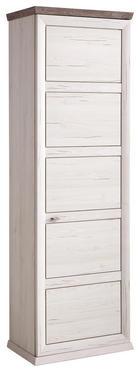 Garderobenschrank - Weiß/Grau, Lifestyle, Holzwerkstoff/Metall (64,2/196,5/38,3cm) - Hom`in