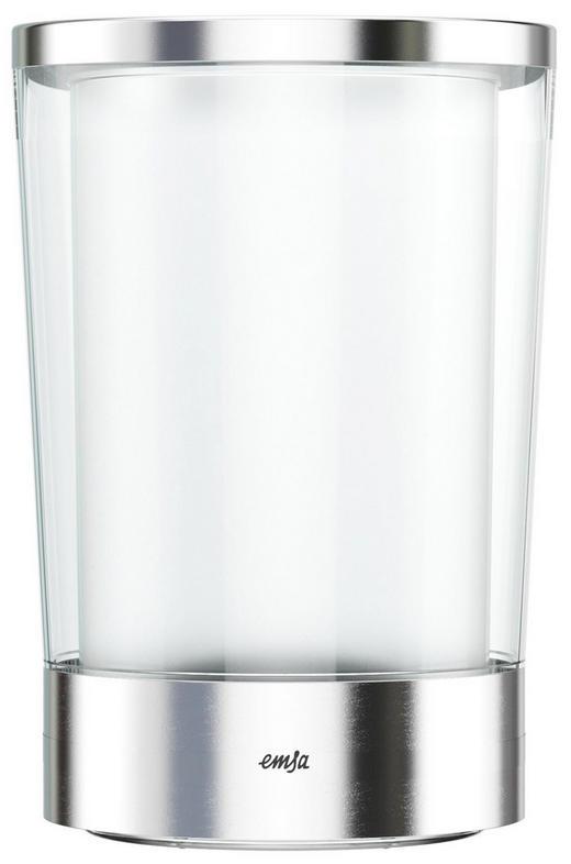 FLASCHENKÜHLER - Klar/Edelstahlfarben, Basics, Kunststoff/Metall (15/15/23,7cm) - EMSA