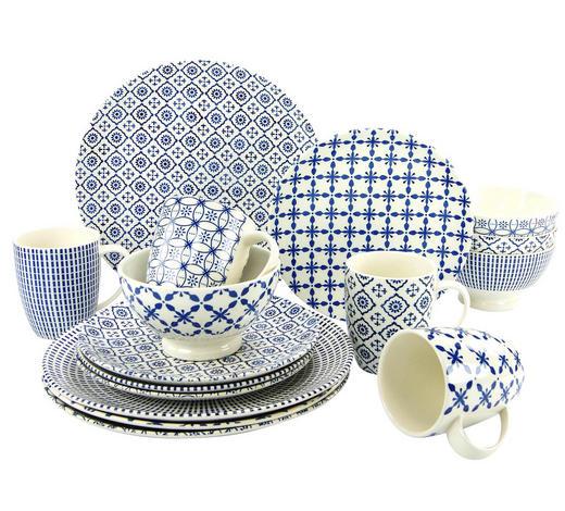 Steingut  KOMBISERVICE 16-teilig   - Blau, Basics, Keramik - Creatable