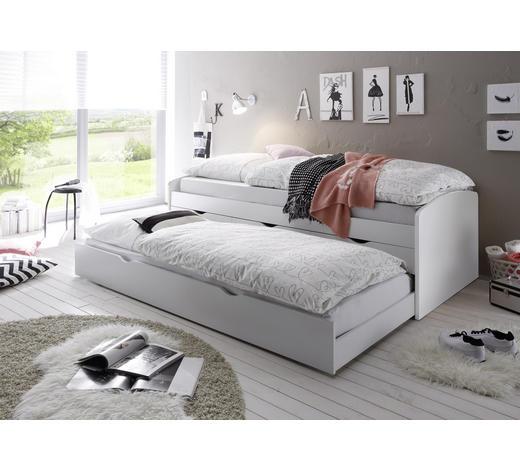 KREVET NA IZVLAČENJE   bijela  - bijela, Design, drvni materijal (96/64/206cm) - Carryhome