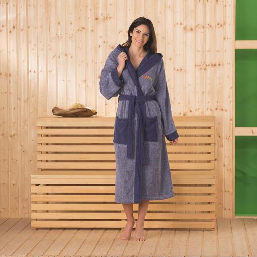 BADEMANTEL  Blau - Blau, Textil (S/M)