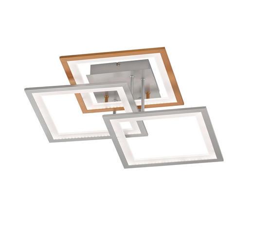 LED-DECKENLEUCHTE - Silberfarben/Bronzefarben, Design, Kunststoff/Metall (50/17/50cm)