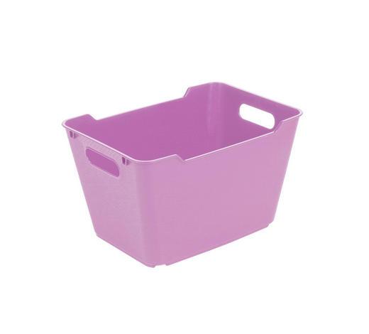 KOŠARA - roza, Basics, plastika (35,5/23,5/20cm)