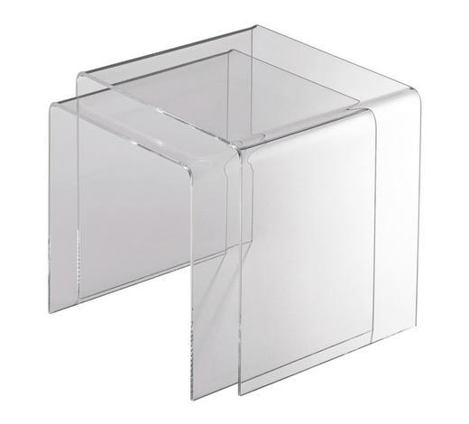 SATZTISCH Klar  - Klar, Design, Kunststoff (40/33/33/36/33cm)