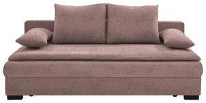 SCHLAFSOFA in Textil Rosa  - Schwarz/Rosa, KONVENTIONELL, Kunststoff/Textil (207/74-94/90cm) - Venda