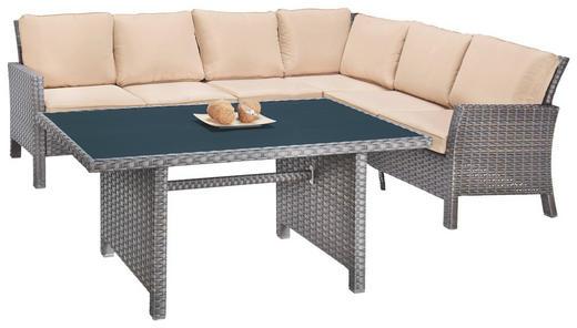 LOUNGEGARNITUR Kunststoffgeflecht Aluminium - Braun, Design, Kunststoff/Textil (260/200cm) - Ambia Garden