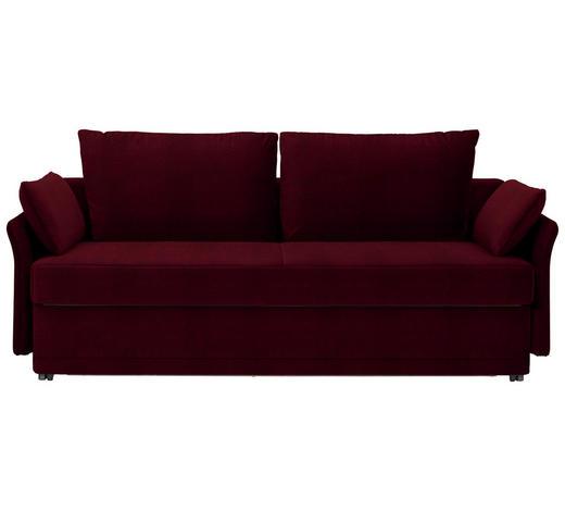 SCHLAFSOFA in Textil Dunkelrot  - Dunkelrot, MODERN, Textil (220/98/96cm) - Joka