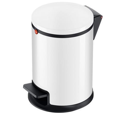 ABFALLSAMMLER 3 L - Schwarz/Weiß, Basics, Kunststoff/Metall (3l) - Hailo