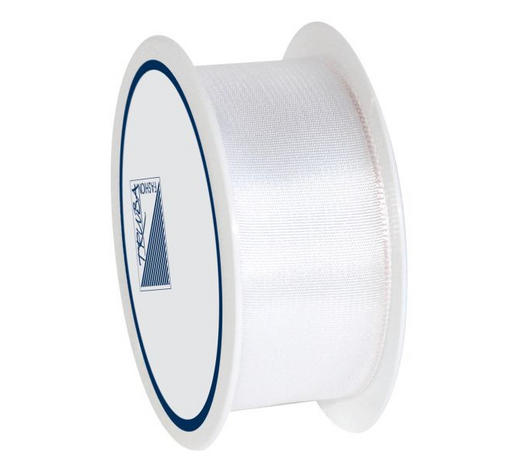 GESCHENKBAND  - Weiß, Basics, Textil (2.5/1/7cm)