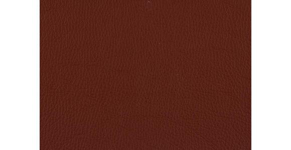 DREISITZER-SOFA in Leder Dunkelorange  - Dunkelorange/Alufarben, Design, Leder/Metall (190/82/99cm) - Dieter Knoll