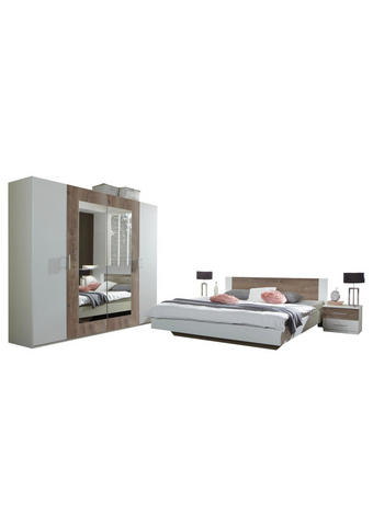 SPAVAĆA SOBA - bijela/boje hrasta, Design, drvni materijal (180/200cm) - Ti`me