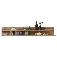 POLICE NÁSTĚNNÁ - šedá/barvy dubu, Design, dřevěný materiál (180/33/22cm) - Xora