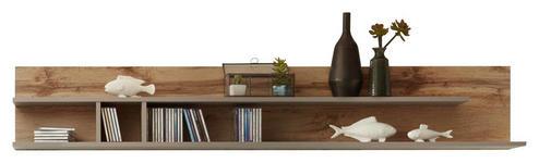 WANDBOARD in 180/33/22 cm Grau, Eichefarben  - Eichefarben/Grau, Design, Holzwerkstoff (180/33/22cm) - Xora