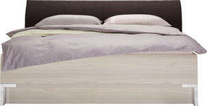 BETT in Braun, Lärchefarben  - Chromfarben/Lärchefarben, Design, Holzwerkstoff/Textil (180/200cm) - Dieter Knoll