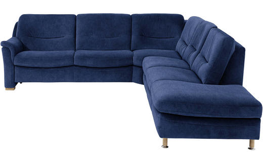 WOHNLANDSCHAFT - Blau, KONVENTIONELL, Holz/Textil (272/282cm) - Valdera