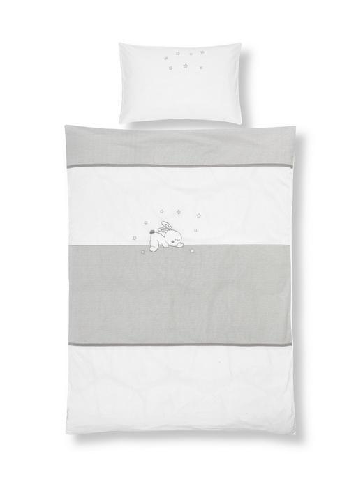 BABYBETTWÄSCHE - Beige/Weiß, Basics, Textil (100/135cm) - My Baby Lou