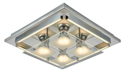 STROPNA LED SVETILKA STREET - krom, Design, kovina/umetna masa (30/30/7cm) - Novel