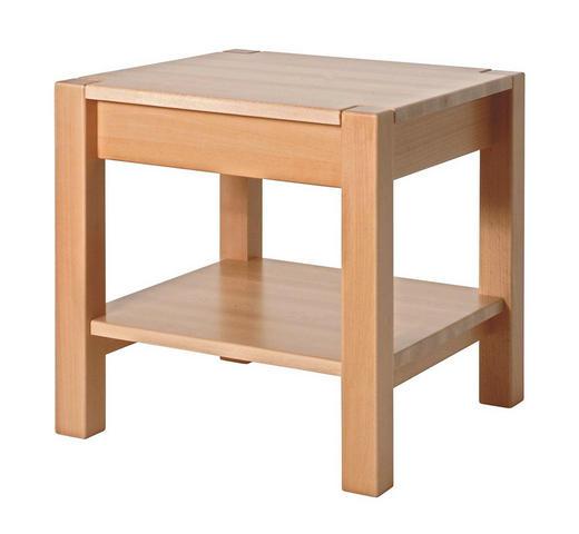 BEISTELLTISCH Buche massiv quadratisch Buchefarben - Buchefarben, Basics, Holz (43/45/43cm)