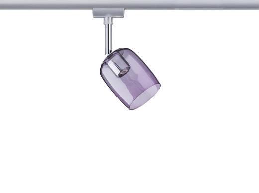 SCHIENENSYSTEM-STRAHLER - Chromfarben/Lila, Design, Glas/Metall (7,4/12,8/11,5cm) - Paulmann