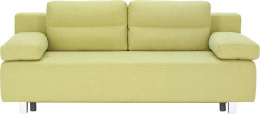 SCHLAFSOFA Webstoff Grün - Alufarben/Grün, Design, Kunststoff/Textil (204/70/80/94cm) - Carryhome
