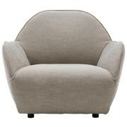 SESSEL Webstoff Hellgrau - Hellgrau/Schwarz, Design, Textil/Metall (96/85/93cm) - Hülsta Sofa