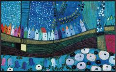 FUßMATTE 50/75 cm Graphik Blau, Multicolor - Blau/Multicolor, Basics, Kunststoff/Textil (50/75cm) - Esposa
