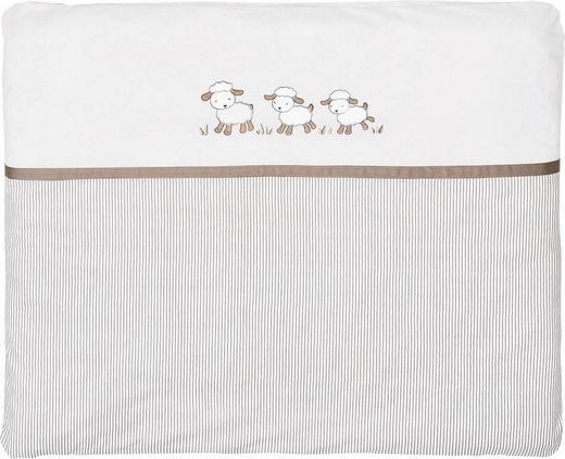 WICKELAUFLAGE 85/75 cm - Taupe/Beige, Basics, Textil (85/75cm) - My Baby Lou