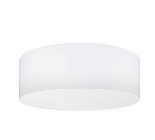 STROPNÍ SVÍTIDLO - bílá, Design, kov/textil (57/15cm)