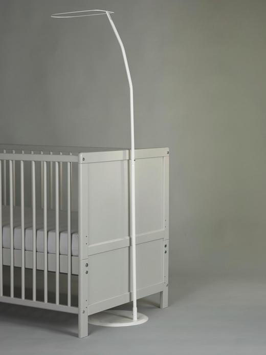 SCHLEIERSTANGE Weiß - Weiß, Basics, Metall (165cm) - Alvi