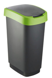KANTA ZA SMEĆE - Zelena/Crna, Osnovno, Plastika (40,1/29,8/60,2cm) - Rotho