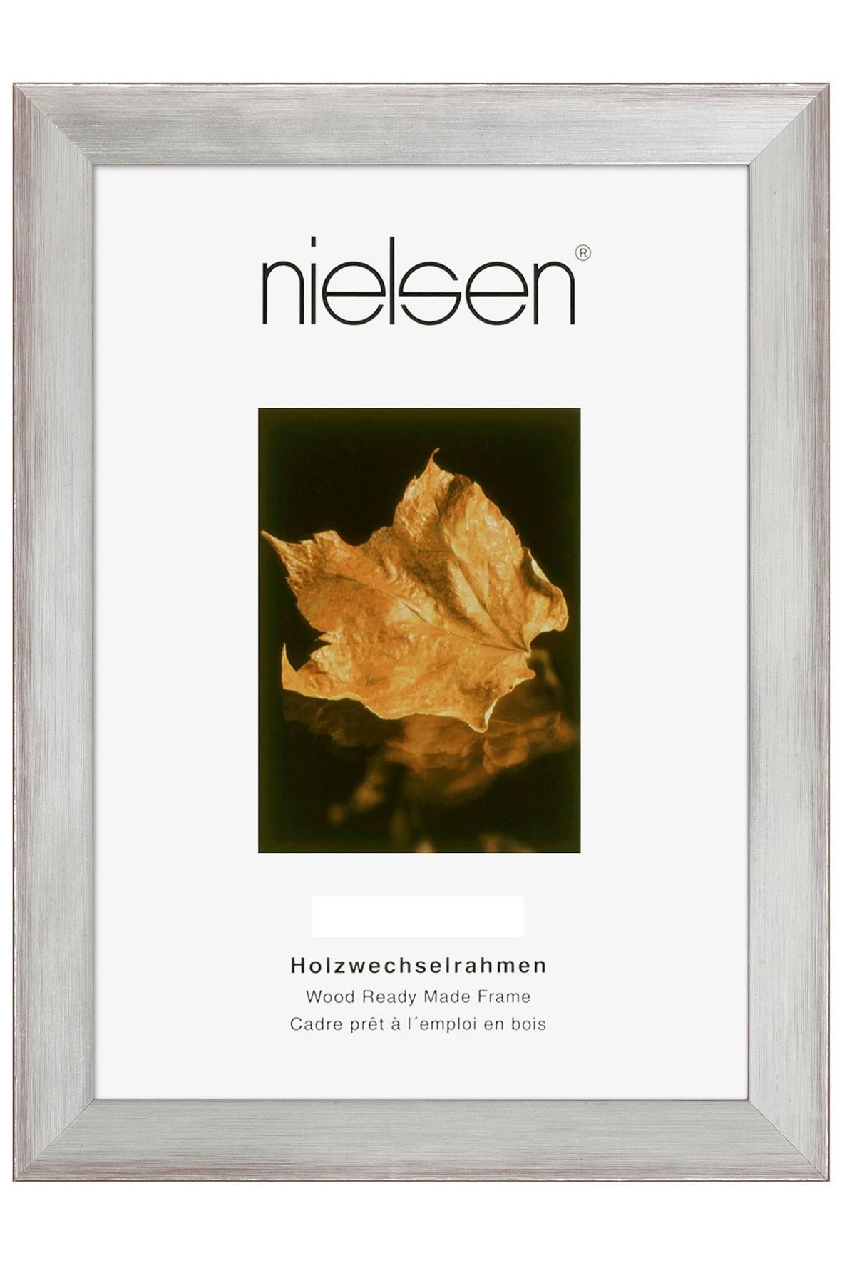 BILDERRAHMEN  Silberfarben - Silberfarben, Holz (40/50cm)