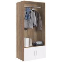 GARDEROBE - Eichefarben/Weiß, Design, Holzwerkstoff (80/185/40cm) - Xora