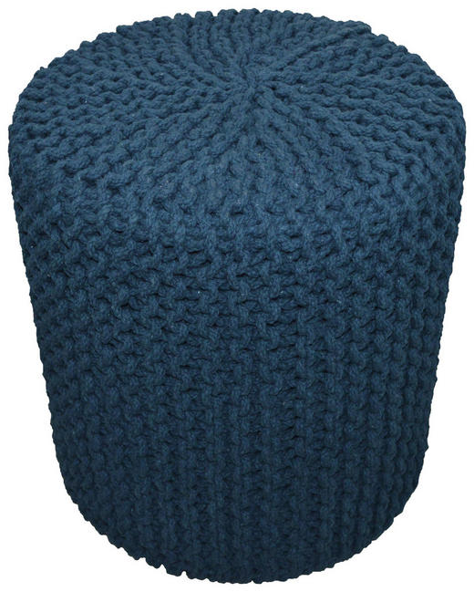 POUF - Blau, Trend, Textil (44/44cm) - Carryhome