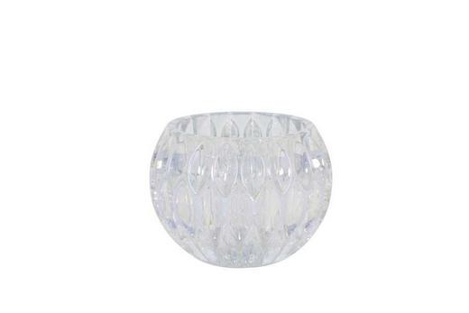 TEELICHTHALTER - Silberfarben, Basics, Glas (12,5/10cm)