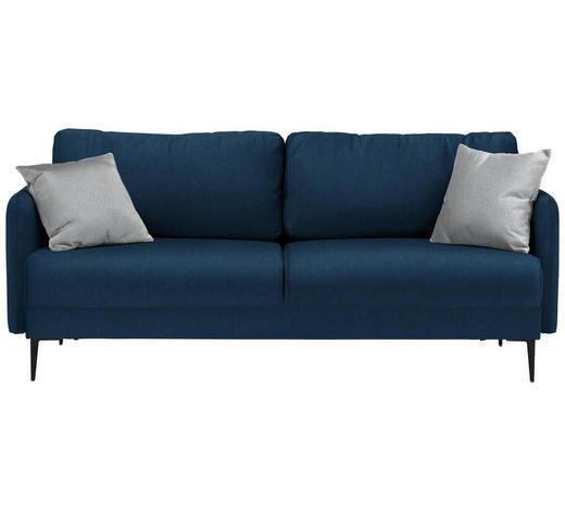 SOFA in Textil Dunkelblau - Hellgrau/Schwarz, MODERN, Textil (200/72/85/88cm) - Carryhome