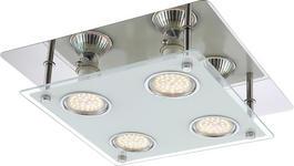 LED-DECKENLEUCHTE - Klar, Design, Glas/Metall (26/26/7,35cm) - BOXXX