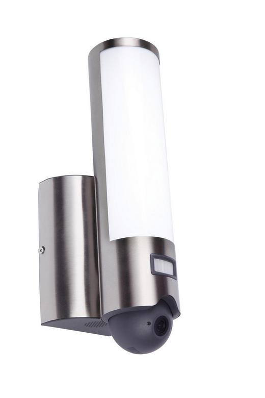 LED-AUßENLEUCHTE - Edelstahlfarben, Design, Metall (7,6/33,4/14cm)