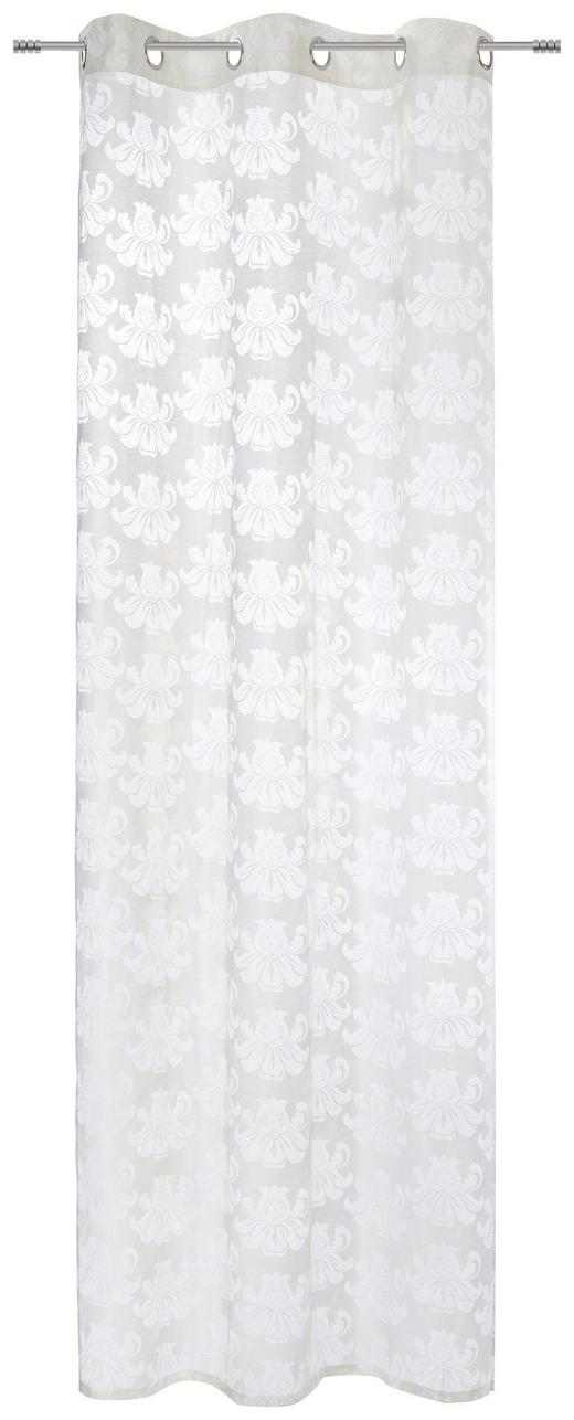ÖSENSCHAL  blickdicht  140/245 cm - Goldfarben/Weiß, Design, Textil (140/245cm) - Esposa
