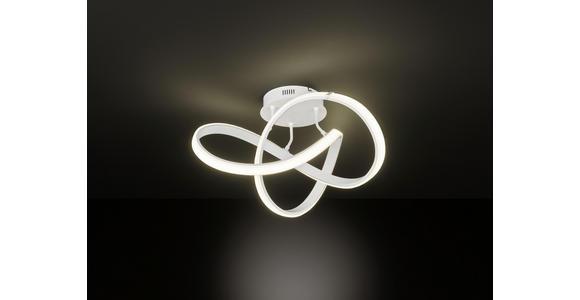 LED-DECKENLEUCHTE 45 W  59/29 cm    - Weiß, Design, Kunststoff/Metall (59/29cm) - Ambiente
