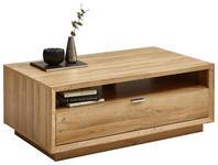 COUCHTISCH in Holzwerkstoff 110/65/45 cm - Chromfarben/Eichefarben, Design, Holzwerkstoff/Metall (110/65/45cm) - Hom`in