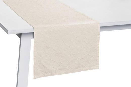 TISCHLÄUFER Textil Weiß 50/150 cm - Weiß, Basics, Textil (50/150cm)