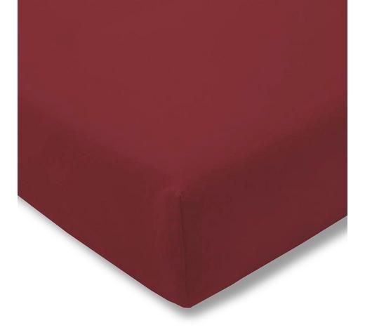 SPANNBETTTUCH Zwirn-Jersey Rot, Brombeere bügelfrei, für Wasserbetten geeignet  - Brombeere/Rot, Basics, Textil (150/200cm) - Estella