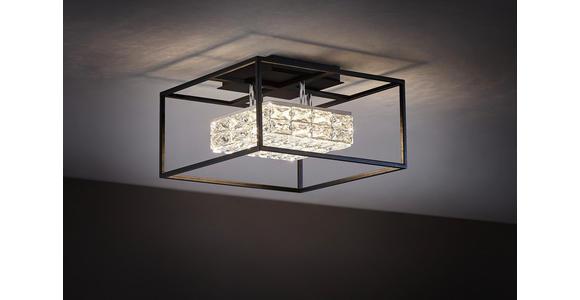 LED-DECKENLEUCHTE   - Schwarz, Design, Glas/Metall (40/40/24cm) - Ambiente