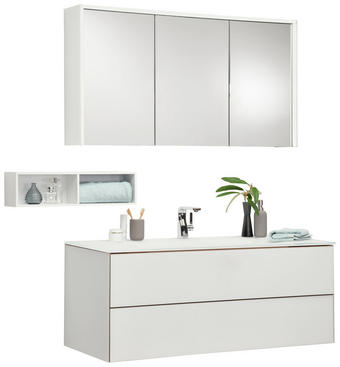 Badezimmer - Weiß, Design, Glas/Holzwerkstoff (120cm) - Novel