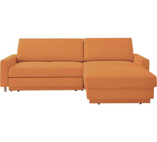 WOHNLANDSCHAFT in Textil Orange - Naturfarben/Orange, KONVENTIONELL, Holz/Textil (250/158cm) - Venda