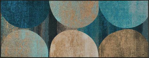 FUßMATTE 75/190 cm Graphik Beige, Blau - Blau/Beige, Basics, Kunststoff/Textil (75/190cm) - Esposa