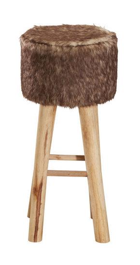 PALL - vit/naturfärgad, Trend, trä/textil (30/68cm) - Ambia Home