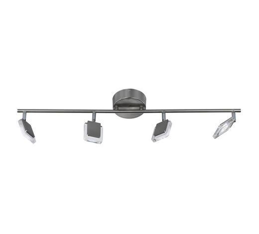 LED-STRAHLER - Nickelfarben, Design, Metall (80/19cm)