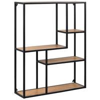 WANDREGAL Schwarz, Eichefarben  - Eichefarben/Schwarz, Design, Metall (75/91/20cm) - Carryhome