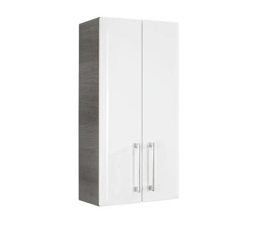 ZÁVĚSNÁ SKŘÍŇKA, barvy grafitu - bílá/barvy chromu, Konvenční, kov/dřevo (35/70/20cm) - Xora